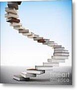 Book Stair Metal Print