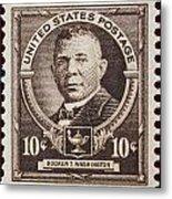 Booker T Washington Postage Stamp Metal Print