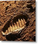 Bootprint On Mars, Artwork Metal Print