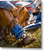 Boots And Quilt On The Trail Metal Print