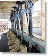 Boots, Rifles, Dog Tags, And Protective Metal Print