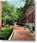 Boott Cotton Mills Courtyard 2 Metal Print