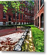 Boott Mill Courtyard Metal Print