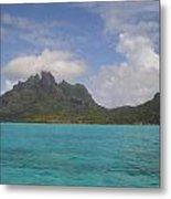 Bora Bora From An Island Motu Metal Print