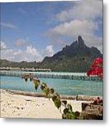 Bora Bora Private Beach Metal Print