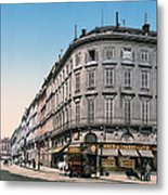 Bordeaux - France - Rue Chapeau Rouge From The Palace Richelieu Metal Print by International  Images