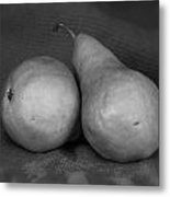 Bosc Pears In Monochrome Metal Print