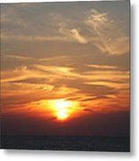 Bosphorus Sunset Marmara Sea Metal Print