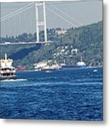 Bosphorus Traffic Metal Print
