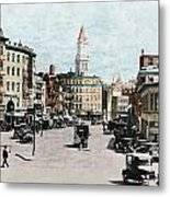 Boston: Bowdoin Square Metal Print