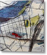 Boston Map  Metal Print