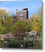 Boston Public Garden Pond In Spring Metal Print