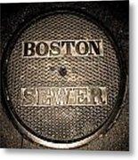 Boston Sewer Metal Print