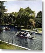Boston: Swan Boats, C1900 Metal Print