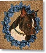 Boston Terrier Love Metal Print