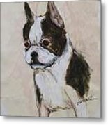 Boston Terrier Puppy Love Metal Print