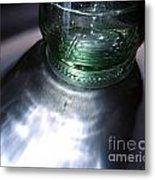 Bottle And Light Photograph Metal Print