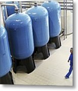 Bottled Water Production Metal Print