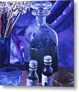 Bottles Of Perfume Essence  Metal Print