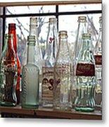Bottles On The Shelf Metal Print