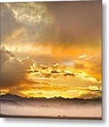 Boulder Colorado Flagstaff Fire Sunset View Metal Print
