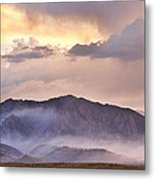 Boulder Colorado Flatirons And The Flagstaff Fire Metal Print
