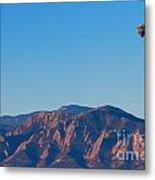 Boulder Colorado Flatirons Hot Air Balloon View Metal Print