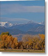 Boulder County Colorado Continental Divide Autumn View Metal Print