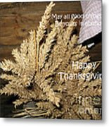 Bounty. Thanksgiving Greeting Card Metal Print