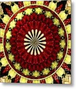Bouquet Of Roses Kaleidoscope 5 Metal Print