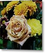 Bouquet With Rose Metal Print