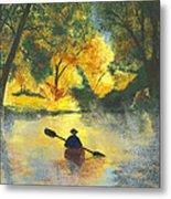 Bourbeuse River Sunrise Metal Print