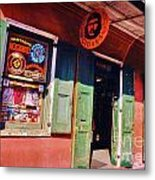 Bourbon Stree Shops Metal Print