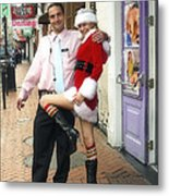 Bourbon Street In Daylight - Santa's Helper Metal Print