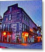 Bourbon Street In The Quiet Hours Metal Print