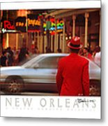 Bourbon Street Man In Red Suit Metal Print