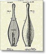Bowling Pin 1895 Patent Art Metal Print