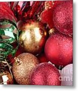 Box Of Christmas Decorations  Metal Print
