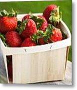 Box Of Strawberries Metal Print
