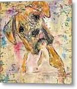 Boxer Babe Metal Print by Marilyn Sholin