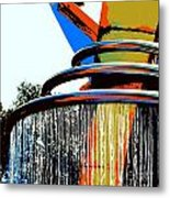 Boyd Plaza Fountain Metal Print