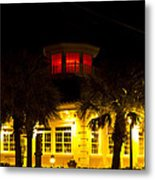 Bradenton Lighthouse Red Metal Print