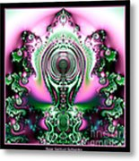 Brain Power Full Of Ideas Fractal 117 Metal Print