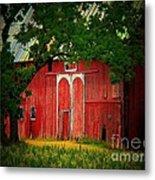 Branch Over Barn Door Metal Print