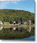 Brant Lake Reflections Metal Print