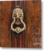 Brass Door Knocker Metal Print