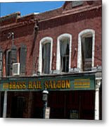 Brass Rail Saloon Metal Print