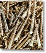 Brass Screws Metal Print
