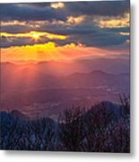 Brasstown Sunset Metal Print