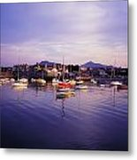Bray Harbour, Co Wicklow, Ireland Metal Print